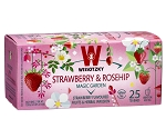 Wissotzky Strawberry & Rosehip Tea / Box of 25 bags