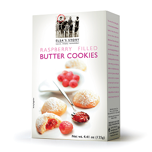 Elsa's Story, Raspberry Filled Butter Cookies, 4.41 oz