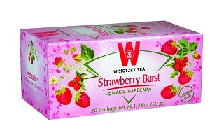 Wissotzky Tea Strawberry Burst Tea / Box of 20 bags